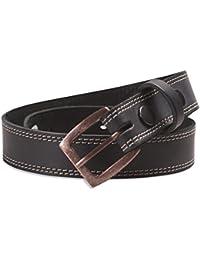 Hawkdale - Herren Gürtel aus Vollnarbenleder mit Naht-Detail - Breite 30 mm - Schnalle abnehmbar - Hergestellt in Großbritannien - # 8R-F73-400