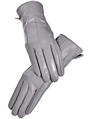 GAYY Lady Gloves Fashion Thicker Short Gloves,Gris,Pequeña