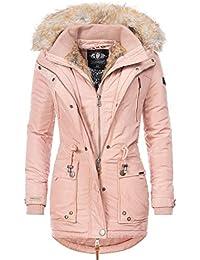 Marikoo Damen Wintermantel Winter Parka Grinsekatze 8 Farben XS-XXL