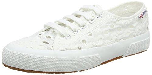 Superga 2750 Embroiderycottonw, Baskets Femme Blanc (Blanc)