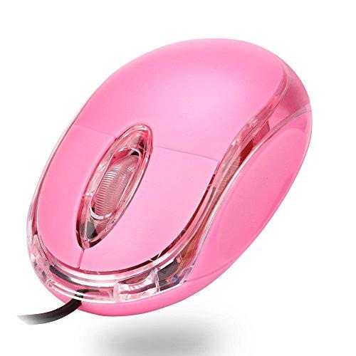 xusun für PC Laptop 1200DPI USB Wired optische Gaming-Mäuse Mäuse rosa rose Kabellose Bose Kopfhörer Für Kinder