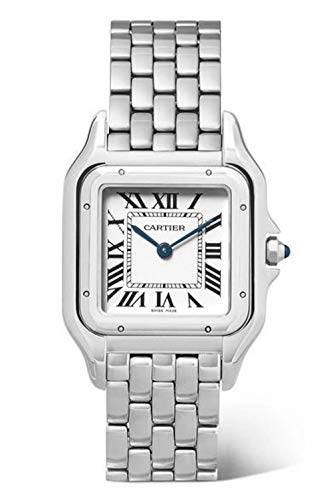 Cartier Panthere Quatz - Reloj de Pulsera para Mujer, Acero Inoxidable, Esfera Plateada, 27 mm