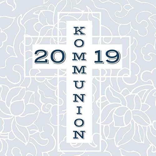 Meine Kommunion: Gästebuch zum Eintragen von Glückwünschen   Erinnerungsbuch an die erste heilige Kommunion   21 x 21 cm   Geschenkbücher   Kreuz blau