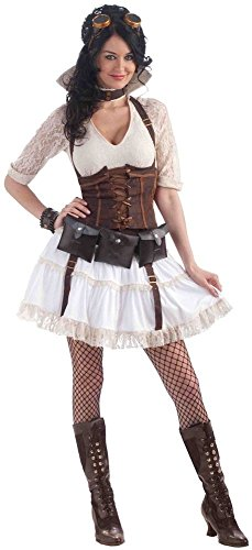 Steampunk Sally Damen Kostüm Gr. 34-38 Vintage Mieder Korsage Burning Man