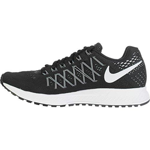 Nike Wmns Air Zoom Pegasus 32, Scarpe da Corsa Unisex-Adulto Black (Nero / Bianco platino-Pure)