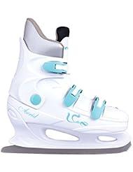 SPOKEY® ACRID RENT Patines de hielo a Alquilar para uso Comercial | Hombres | | Mujer | Niños | Cuchillas hockey sobre hielo | Acero inoxidable | Dos pares de forros | 35-46, Color:blanco;Spokey Größen:39