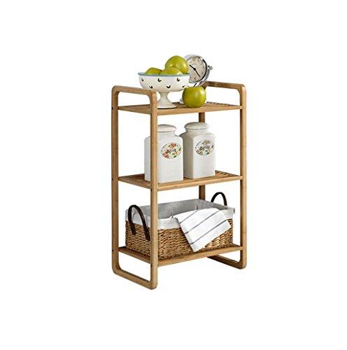 LPZ-Shelving Multilayer Bambus Standregal All-Bad Organisation Lagerregal Holz Stand Regal Wohnzimmer Bücherregal Cube Küchenschrank Bücherregal (größe : 3-tier) 3-tier-bücherregal-regal