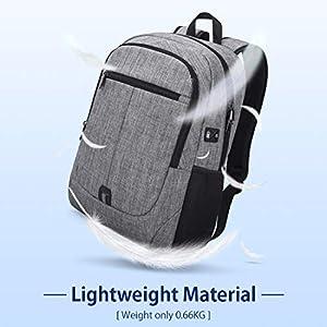 416hMwrrgyL. SS300  - Mochila Portatil Hombre 15,6 Pulgadas Impermeable Multifuncional USB Mochila para Estudiantes Ordenador Viaje Negocio…