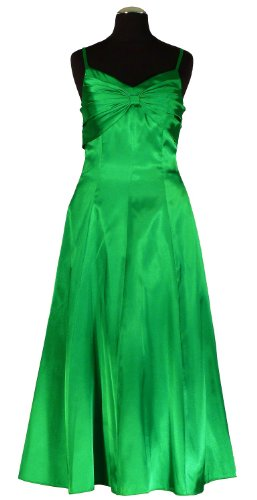 Samtlebe® - Satin Cocktailkleid Abendkleid knielang elegant C666 in Grün Gr. 34-42 inkl. Stola Grün
