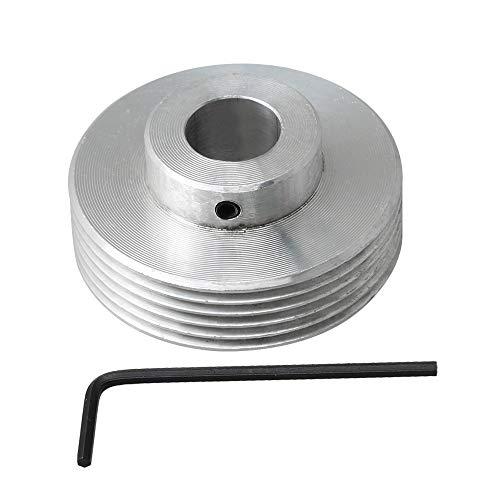 BQLZR 14 mm ID Aluminium Material Multi Keilriemen PJ V Typ Riemenscheibe 6 Schlitze mit Schlüssel Zubehör für industrielle Maschinen Verarbeitungsgeräte