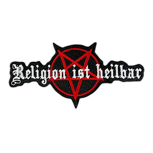 Bügel Aufnäher Religion ist heilbar