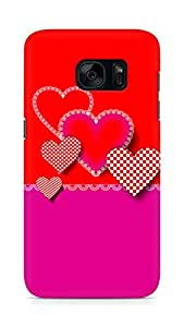 Amez designer printed 3d premium high quality back case cover for Samsung Galaxy S7 (Decorative composition of hearts)