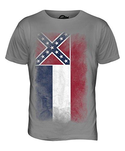 CandyMix Bundesstaat Mississippi Verblichen Flagge Herren T Shirt Hellgrau