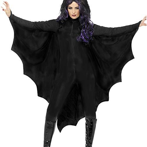 FRIENDGG Damen Halloween KostüM Einteiliges KleidungsstüCk Bat KostüM Body Kleidung Halloween Bat KostüM Einfarbig Abendgesellschaft Abendkleid Sexy Mode Elegant Rock Casual Schwarz - Weg Golf Kostüm