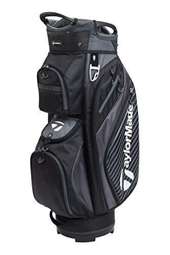 TaylorMade Golf 2018 Pro Cart 6.0 Cart Bag Mens Trolley Bag 14 Way Divider Black/Charcoal -