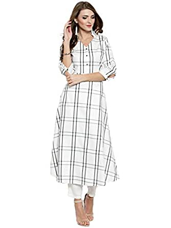 SERA Women's Cotton a-line Kurta
