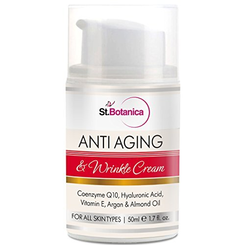 St.Botanica Anti Aging & Anti Wrinkle Cream With Co-Q10, Hyaluronic acid, Vitamin E & Argan Oil - 50ml