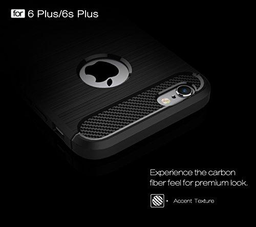"""iPhone 6s Plus / 6 Plus Hülle Schwarz , ivencase Luxus Silikon Handyhülle Schutzhülle TPU Case Backcover Bumper Slimcase Etui Tasche für iPhone 6s Plus / 6 Plus 5.5"""" black"""