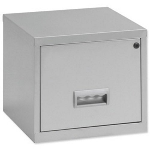 filing cabinet steel lockable 1 drawer a4 black co uk kitchen home - Small Filing Cabinet