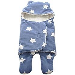 Happy Cherry Arrullo Mantita Envolvente con Estampado y Felpa Saco de Dormir Swaddle Blanket para Bebés Recién Nacidos 0 - 3 Meses