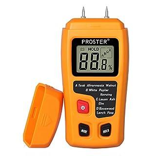 Moisture Meter Damp Meter RZMT-10 MD Digital Wood Moisture Meter Handheld Moisture Tester Detector Humidity Measuring with HD LCD for Wood Firewood Cardboard Paper (Range 0-99.9%)