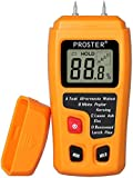 Moisture Meter Damp Meter RZMT-10 MD Digital Wood Moisture Meter with Battery Handheld Moisture Tester Detector Humidity Measuring with HD LCD for Wood Firewood Cardboard Paper (Range 0-99.9%)