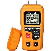 Medidor de Humedad, Proster Humidímetros LCD Medidor de Humedad de Madera Digital Detector 2 Pin