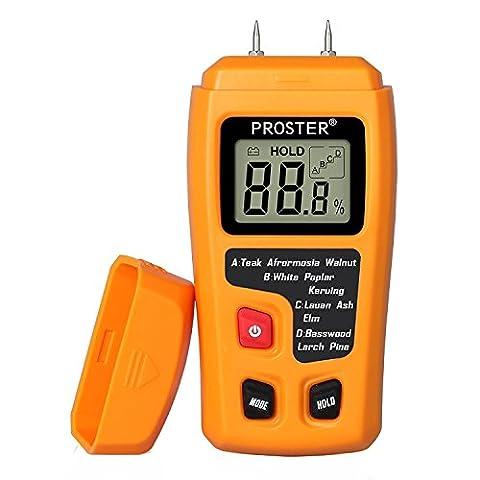 Humidimètre Bois RZMT-10 LCD Mesureur Numérique d'Humidité Instrument de Test d'Humidité de Bois Testeur Détecteur Outil pour Mesurer le Teneur d'Humidité pour Mur Papier Carton Bois de Chauffage Plâtre