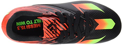 adidas Messi 15.3 Fg/Ag, Scarpe da Calcio Bambino Multicolore (Core Black/Solar Green/Solar Red)