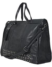 Trend Damen Leder Handtasche Henkeltasche Schultertasche 9136