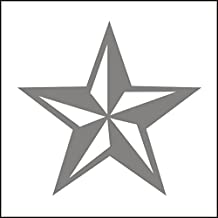 3138__S Pegatina para el coche Estrella náutica del coche del vinilo de la etiqueta engomada Tatuajes de pared de la ventana de Marina Armada de Cuerpo ( Silver)