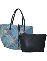 Senora Handbag For Women (Colour-L.blueblack)
