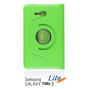 OBiDi - PU Leather 360 Degree Rotating Cover Case Stand for Samsung GALAXY Tab3 (7 inch) Lite(T110) - Green