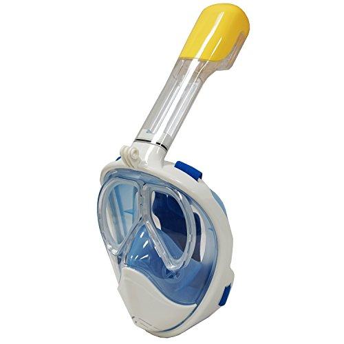 Tubo de buceo master azul Full Face receta máscara w/Gopro clip, L/XL