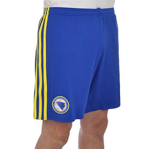 Adidas-Maglietta ffbh Home l' pantaloncini della squadra nazionale bosniaci domestico., Uomo, Trikot FFBH Home Die Heimshorts der bosnischen Nationalmannschaft., blau, XL