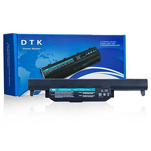 Dtk® Ultra Hochleistung Notebook Laptop Batterie Li-ion Akku für Asus R500V A45 A55 A75 K45 K55 K75 R400 R500 R700 U57 X45 X55 X75 Series - [fits P/N A32-K55 / A33-K55 / A41-K55 / A42-K55] - 24 Months Warranty [6-Cell 5200mAh/58Wh] Notebook Battery