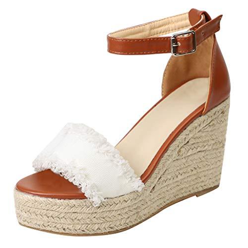 Sandalen Damen Sommer,ABsoar Keilschuhe Mode Pumps Plateauschuhe Mode -