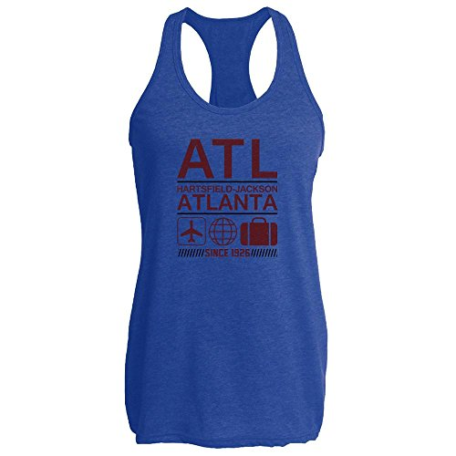 Pop Threads ATL Atlanta Airport Code Since 1926 Travel Womens Tank Top by