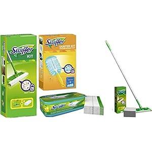 Swiffer Starter Set Bodenwischer+8 Tücher+24 feuchte Tücher WET + Staubmagnet