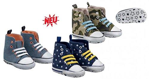Baby-Sneakers-Schühchen ,,Jungen'' Baumwolle CH-229 (16-17, Khaki (armee)) Grau (uni)
