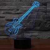 3D LED künstlerische elektrische Gitarre Schreibtischlampe USB Nacht Nachtlicht 7 Farben ändern Atmosphäre Dekor Geschenke Lampara Leuchte