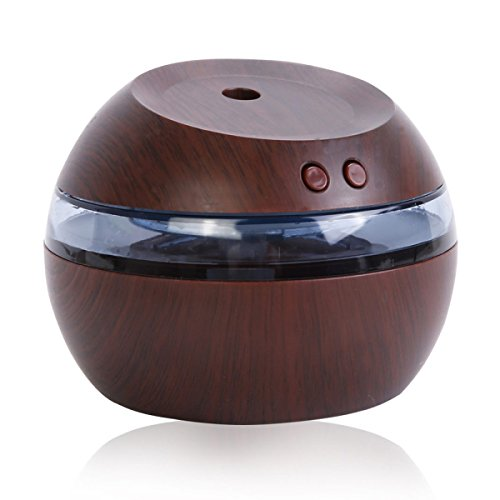 ANHPI 290ml Holz Aroma Luftbefeuchter USB Energiesparende Tragbare Hause Stumm Große Luftbefeuchter,DarkWoodColor