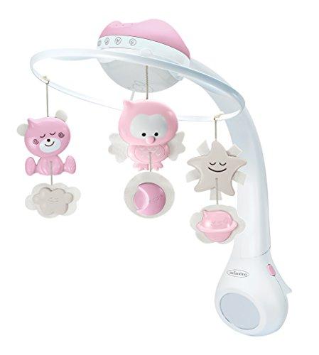 Infantino 3 in 1 Musikmobile und Projektor, Nachtlicht, Einschlaflicht, rosa