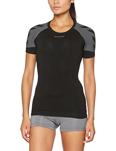 Hummel Damen First Comfort SS Wo Jer T-Shirt, Black, M/L