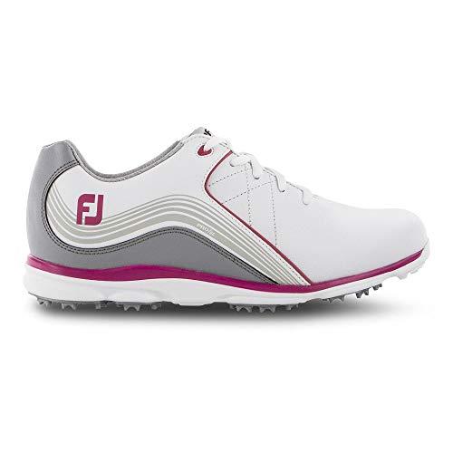 Footjoy PRO S/l, Scarpe da Golf Donna, (Bianco/Gris/Rosa 98101m), 36.5 EU