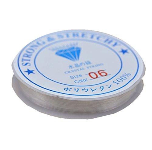 sungpunet 2Einheiten Schnur 10m 0,8mm stark dehnbar Elastic Seil Cord Kristall klar Gewinde Line für DIY Schmuckherstellung aufreihmaterialien Armband Draht