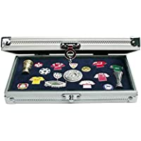 Collectors Aluminium Case for Pins, Medals, Buttons and Badges. 193 x 115 x 40 mm