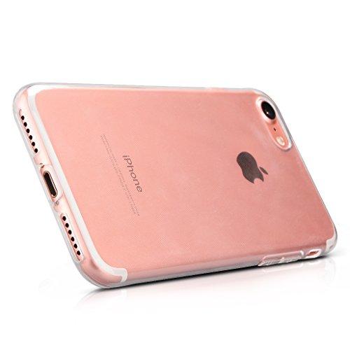 Zaprado Apple iPhone 7 Hülle transparent Schutzhülle Rand mit Metallic-Look Case Bumper ultra leicht und dünn aus TPU schützt alle Ecken und Kanten, COLOR: Rosegold Transparent