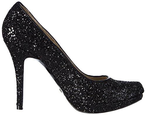 Buffalo London 10179x-300 Glitter Damen Pumps Schwarz (Black 01)