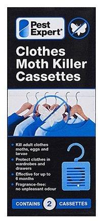 Pest Expert Cassettes de Tueur de Mite (1x paquet double) Nouveau au Marché Formulation Inodoré Avancée